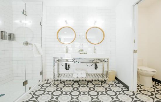 Shower & Vanity Area